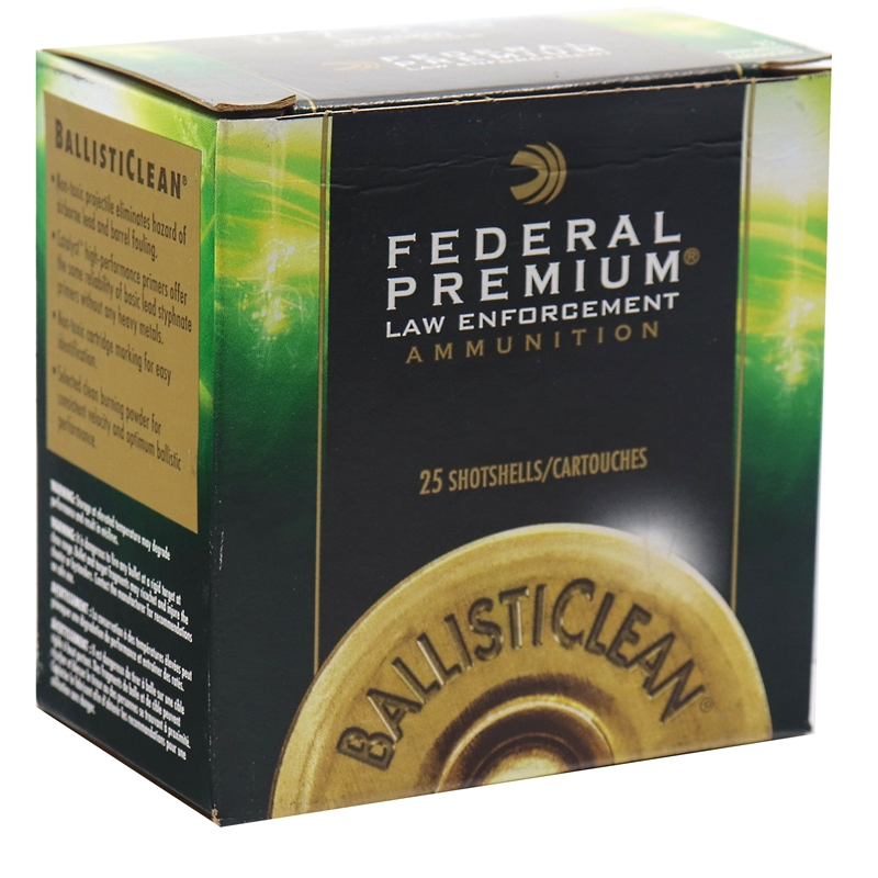"Federal Ballisticlean 12 Gauge Ammo 2-3/4"" 00 Buckshot 9 Pellet"