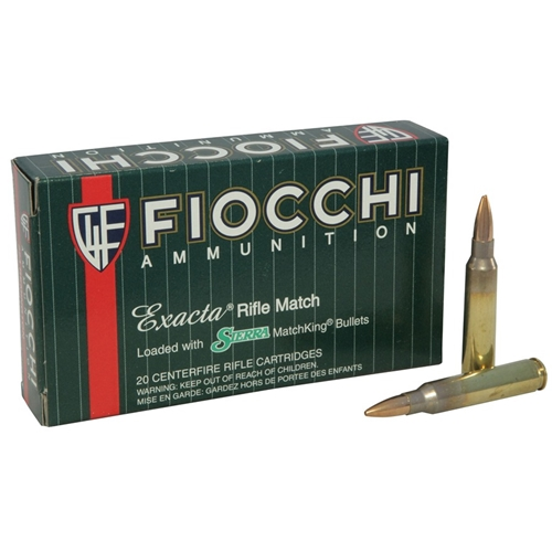 Fiocchi Exacta Match 308 Winchester 180 Grain Sierra MatchKing HP