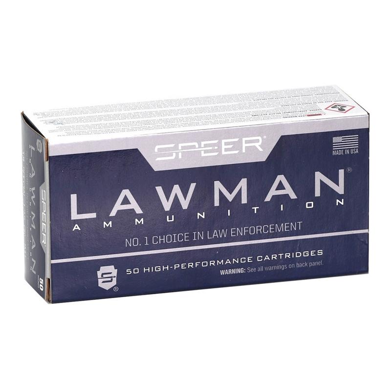 Speer Lawman 38 Special Ammo 125 Grain TMJ