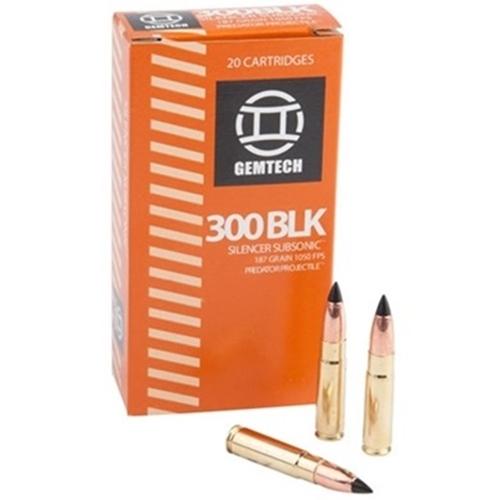 Gemtech 300 AAC Blackout 187 Grain Subsonic Black Polymer Tip