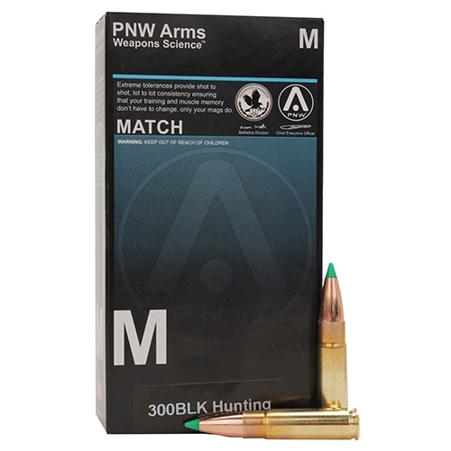PNW Hunting 300 AAC Blackout 125 Grain Hollow Point Boat Tail