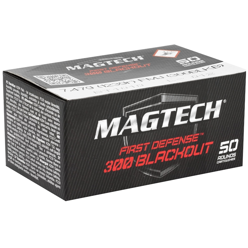 MagTech First Defense 300 AAC Blackout 123 Grain Full Metal Jacket