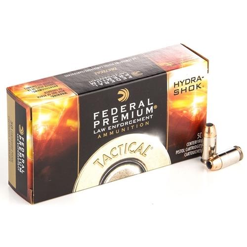Federal Law Enforcement 9mm Luger Ammo 124 Grain +P+ Hydra-Shok JHP