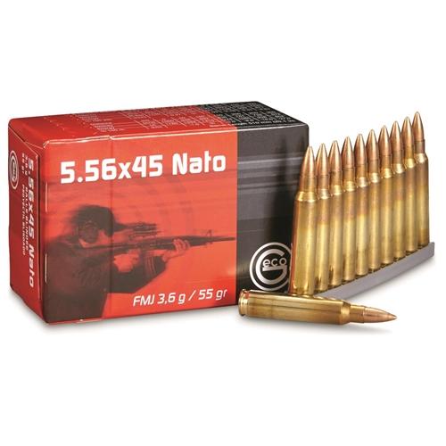 Geco 5.56x45mm NATO Ammo 55 Grain Full Metal Jacket