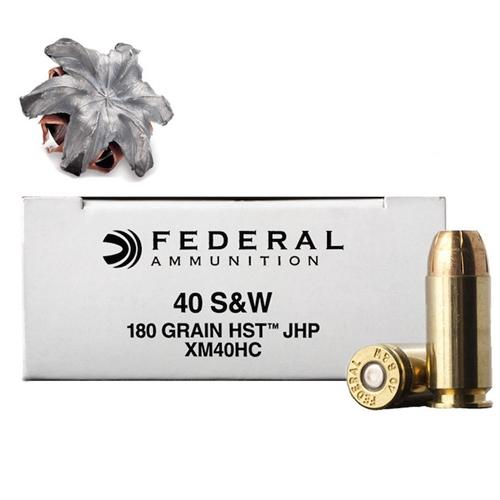 Federal Law Enforcement 40 S&W Ammo 180 Grain HST JHP