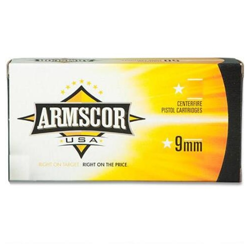 Armscor USA 9mm Luger Ammo 147 Grain Full Metal Jacket