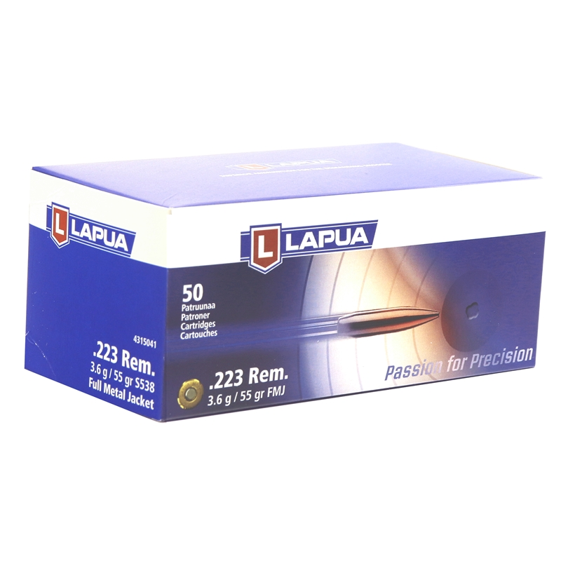 Lapua Ammo 223 Remington 55 Grain Full Metal Jacket 600 Rounds