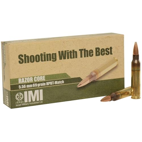 IMI Ammo 5.56x45mm NATO 77 Grain Razor Core SMKHP