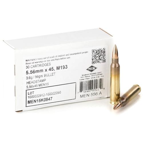 Magtech MEN 5.56mm NATO Ammo 55 Grain Full Metal Jacket