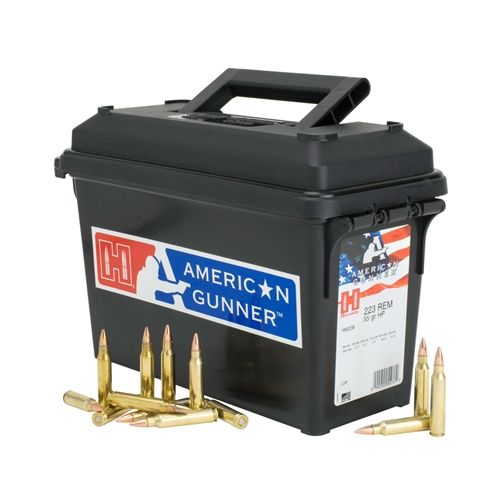Hornady American Gunner 223 Rem Ammo 55 Gr HP 247 Rds in Ammo Can