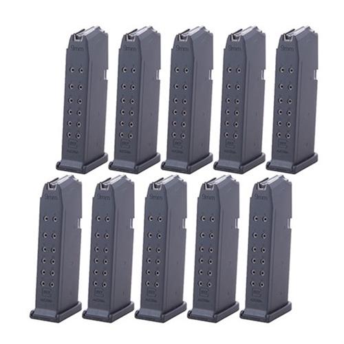 Glock G19 9mm Luger 15 Round Black Polymer Magazine