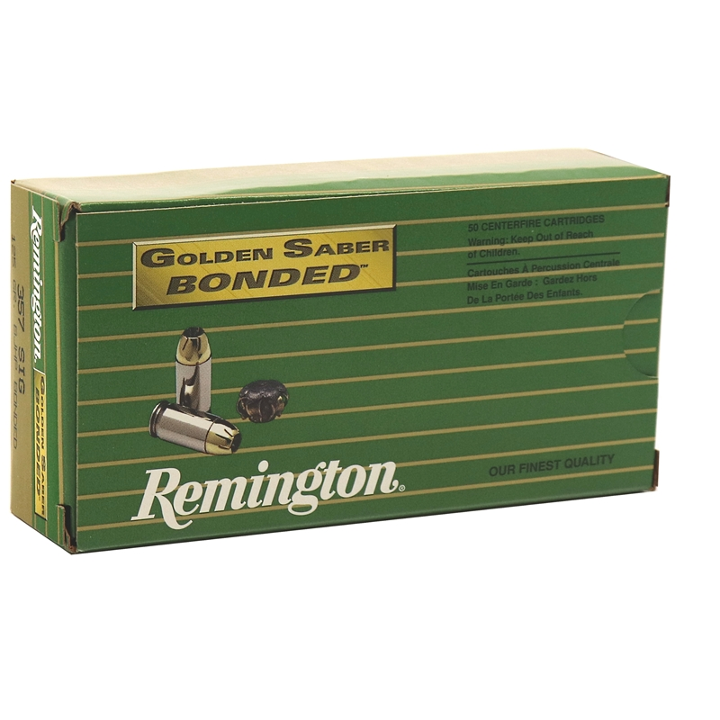Remington Golden Saber LE 357 SIG Ammo 125 Grain BB JHP