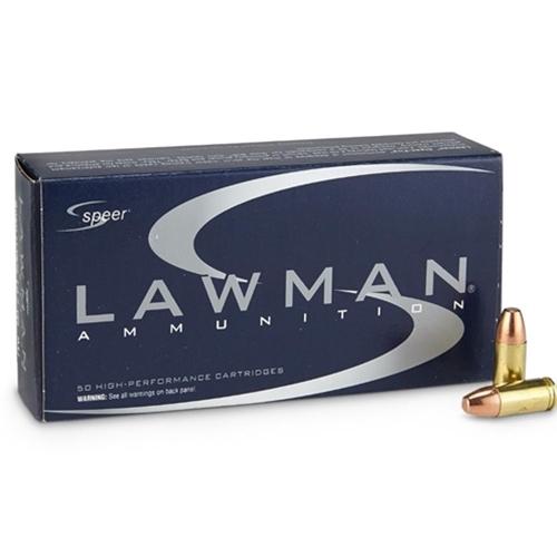 Speer Lawman CleanFire 9mm Luger Ammo 115 Gr +P TMJ