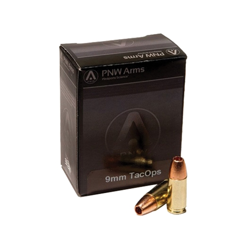 PNW TacOps 9mm Luger Ammo 115 Grain Solid Copper Hollow Point