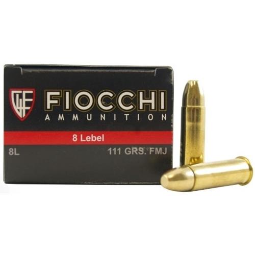 Fiocchi 8mm Lebel Ammo 111 Grain Full Metal Jacket