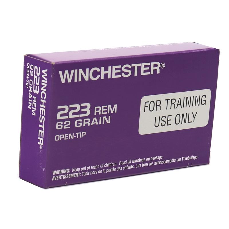 Winchester LE Training 223 Remington Ammo 62 Grain Open Tip