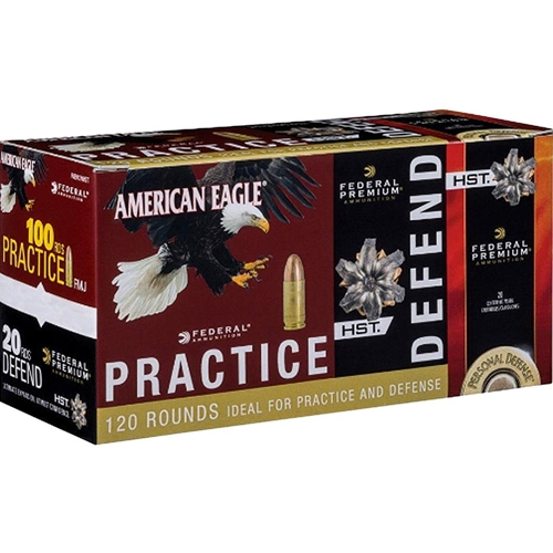 Federal American Eagle 380 ACP AUTO Ammo FMJ/ HST JHP Combo Pack