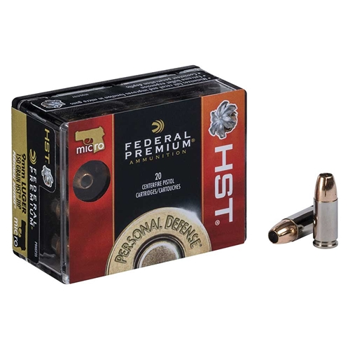 Federal Personal Defense 9mm Luger Ammo 150 Grain HST JHP