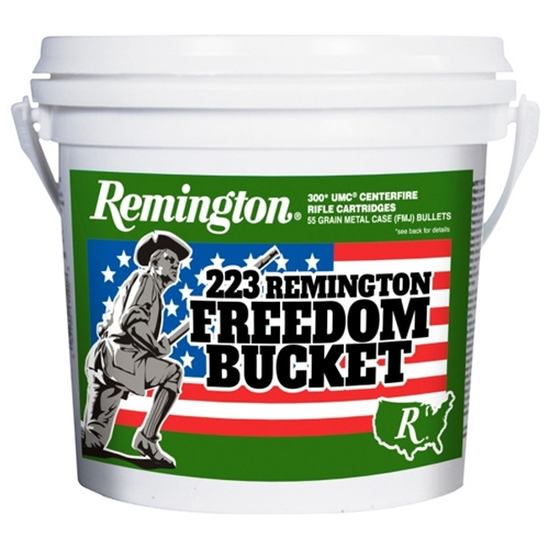 Remington Freedom Bucket 223 Remington Ammo 55 Gr FMJ 300 Rds