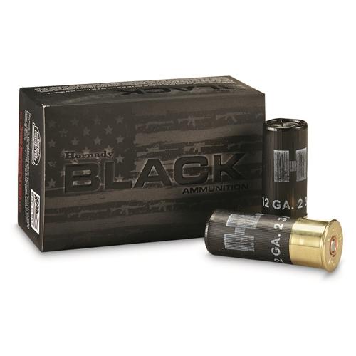 "Hornady Black 12 Gauge Ammo 2 3/4"" 00 Buckshot"