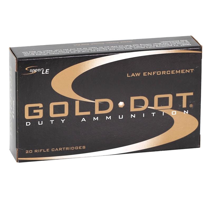 Speer Gold Dot LE Duty 308 Winchester Ammo 168 Gr SP