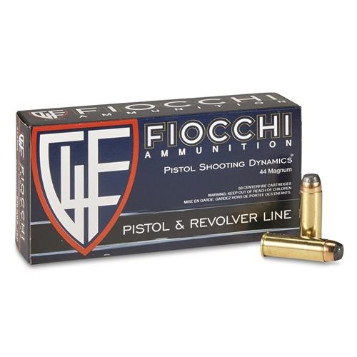 Fiocchi Shooting Dynamics 44 Remington Magnum Ammo 240 Grain CMJ