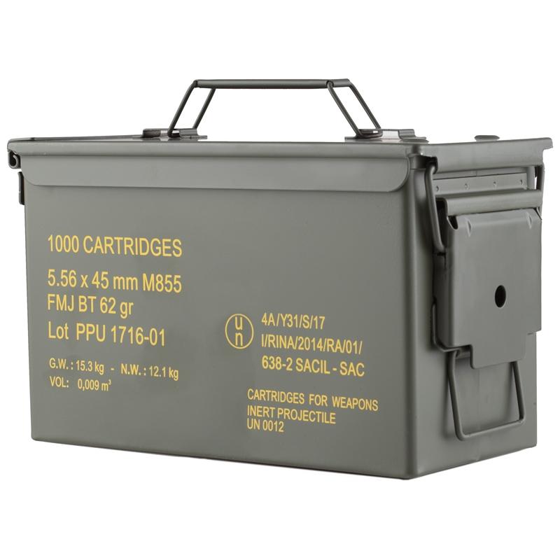 Prvi Partizan 5.56mm M855 NATO Ammo 62 Grain FMJ 1000 Rounds in Ammo Can