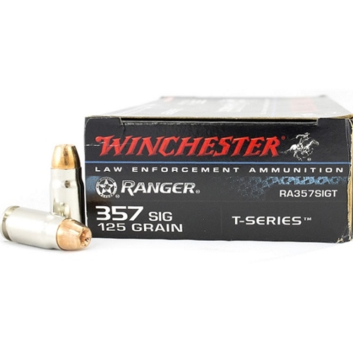 Winchester Ranger 357 SIG T-Series 125 Grain Jacketed Hollow Point