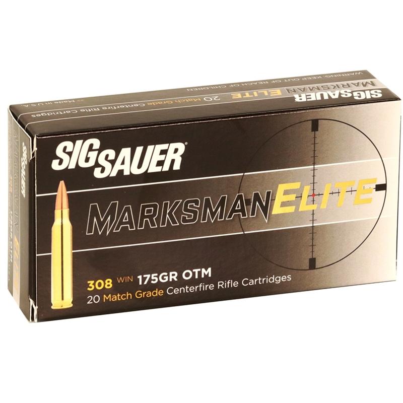 Sig Sauer Elite Performance 308 Winchester Ammo 175 Grain OTM