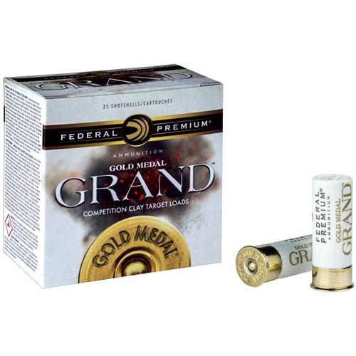 """Federal Gold Medal Grand 12 Gauge Ammo 2-3/4"""" 1-1/8 oz #8 Shot"""