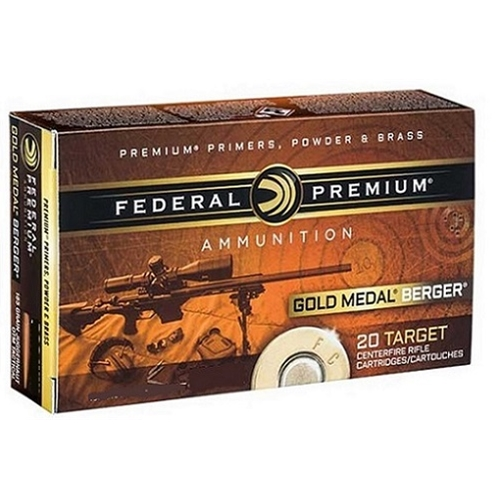 Federal Gold Medal Berger 223 Remington Ammo 73 Gr Berger Hybrid