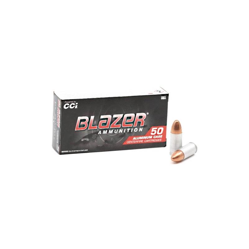 CCI Blazer 9mm Luger Ammo 124 Grain Full Metal Jacket
