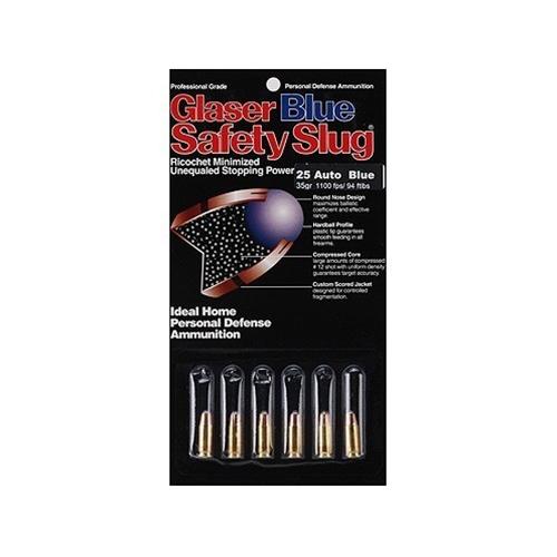 Glaser Silver Safety Slug 38 Special Ammo +P 80 Grain