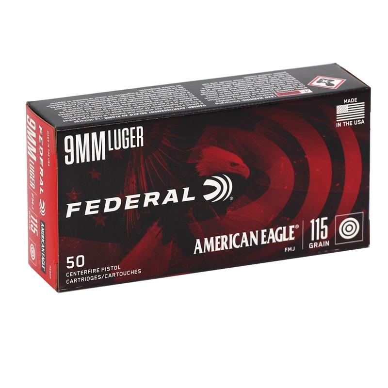 American Eagle Rebate >> Federal American Eagle 9mm Luger Ammo 115 Grain Ammo Fmj