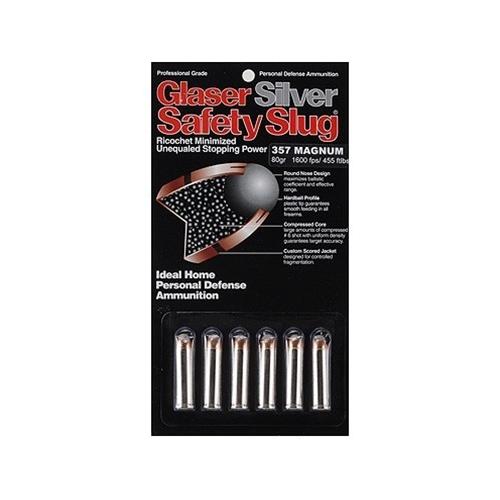 Glaser Silver Safety Slug 357 Magnum Ammo 80 Grain