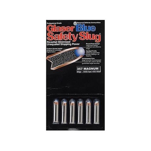 Glaser Blue Safety Slug Ammunition 45 Colt (Long Colt) +P 145 Grain Safety Slug Package of 6