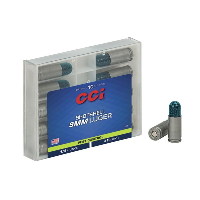 CCI Shotshell 9mm Luger Ammo 53 Grain #12 Shot