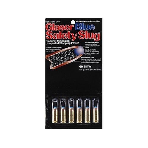 Glaser Blue Safety Slug Ammo 40 S&W 115 Grain Ammunition