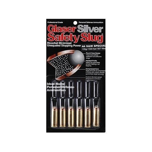Glaser Silver Safety Slug Ammo 45 ACP +P 145 Grain Safety Slug Ammunition