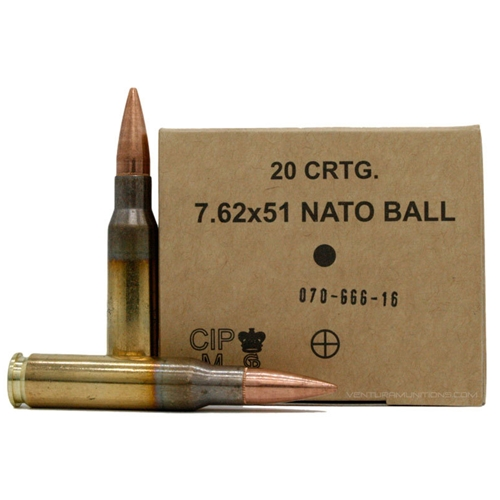 GGG 7.62x51mm NATO Ammo 147 Grain FMJ 500 Rounds