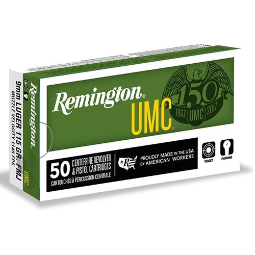 Remington UMC 9mm Luger Ammo 115 Grain Full Metal Jacket