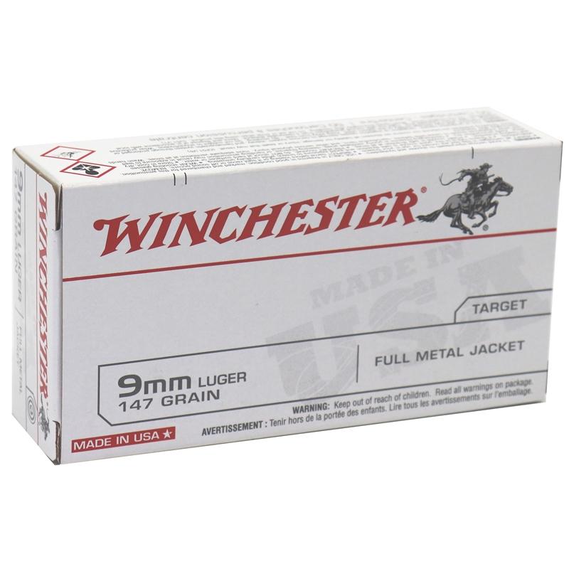 Winchester USA 9mm Luger 147 Grain FMJ