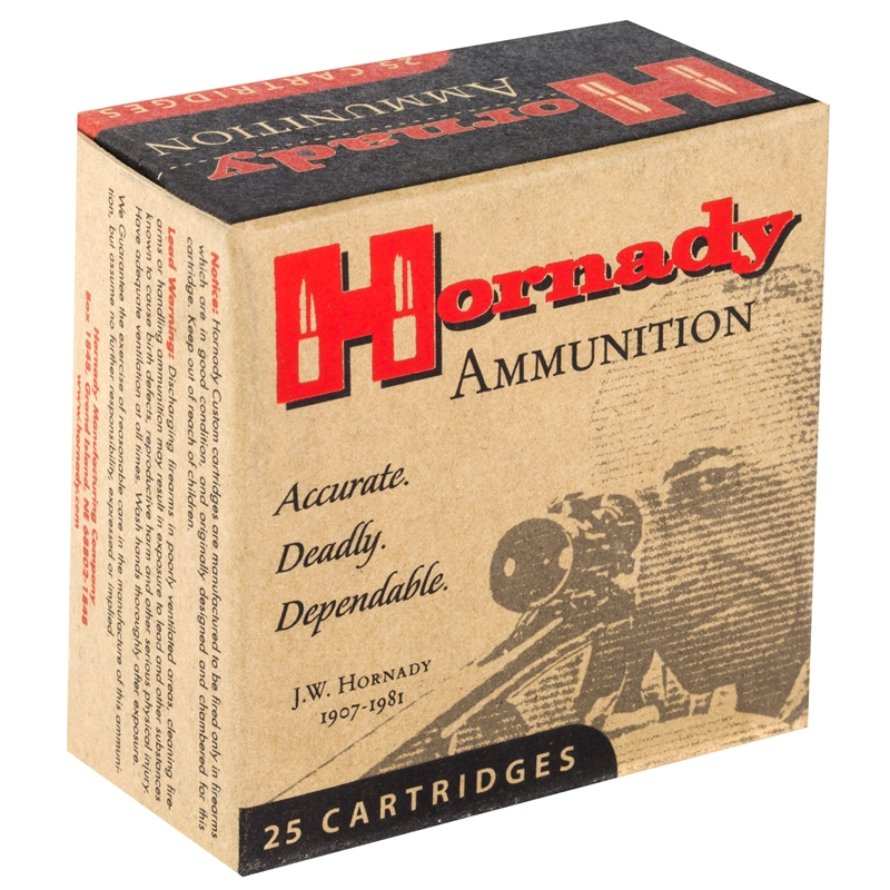 Hornady Custom 32 ACP Auto Ammo 60 Grain XTP JHP