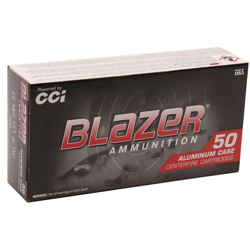 CCI Blazer 40 S&W Ammo 165 Grain Full Metal Jacket