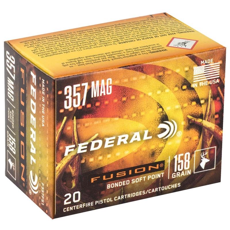 Federal Fusion 357 Magnum Ammo 158 Grain JHP
