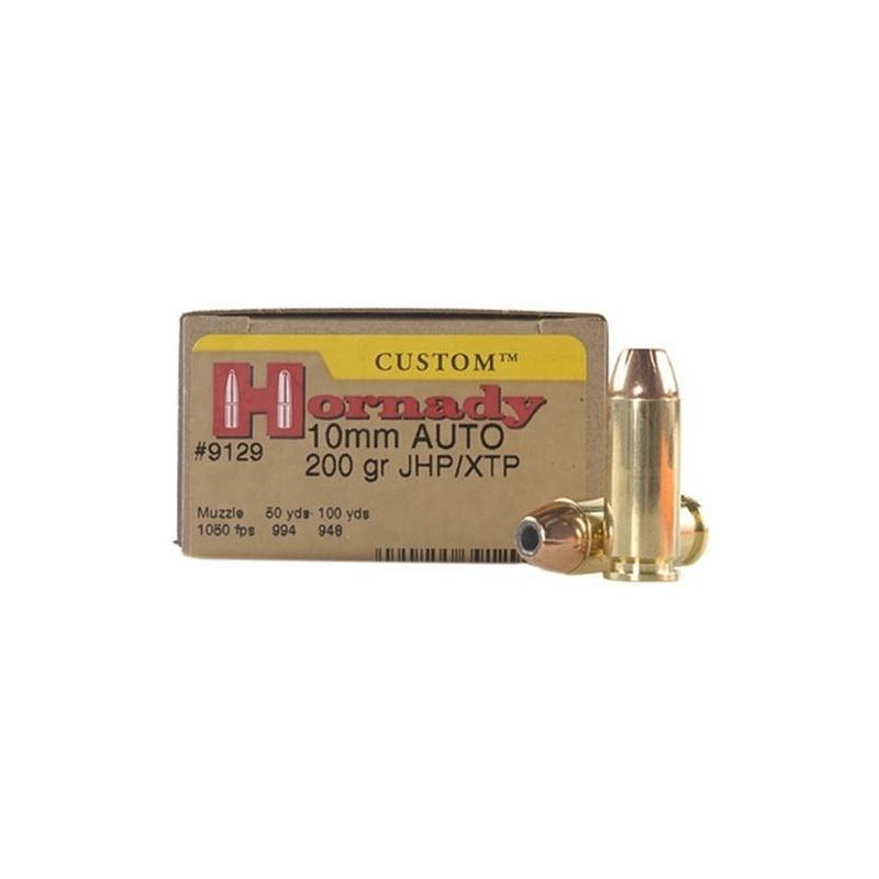 Hornady Custom 10mm Auto Ammo 200 Grain XTP JHP