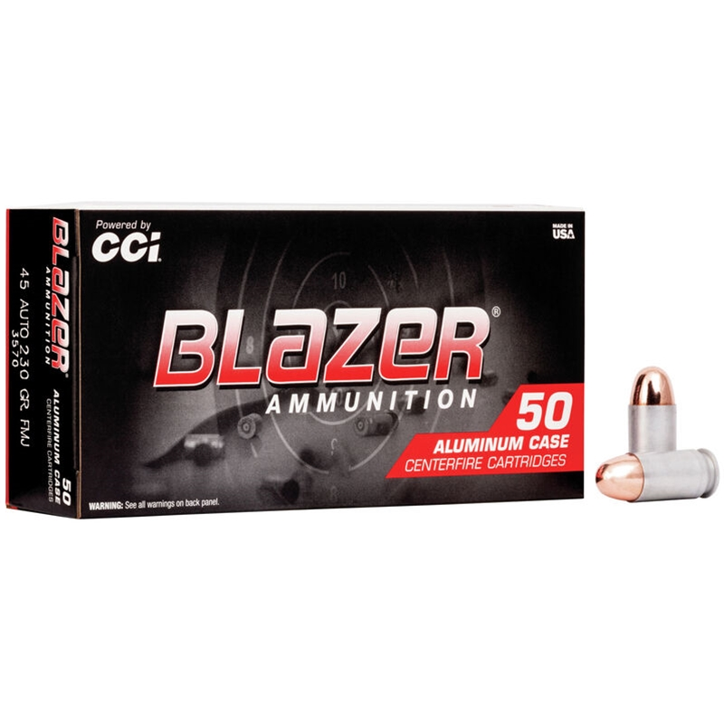 CCI Blazer 45 ACP AUTO 230 Grain Full Metal Jacket