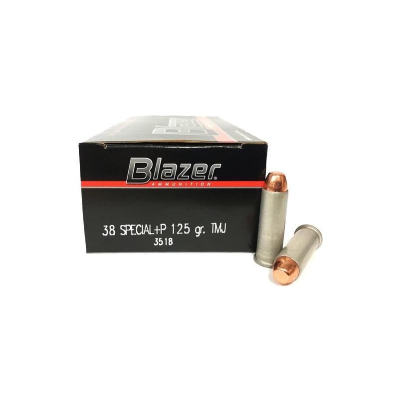 CCI Blazer 38 Special Ammo 125 Grain +P Total Metal Jacket