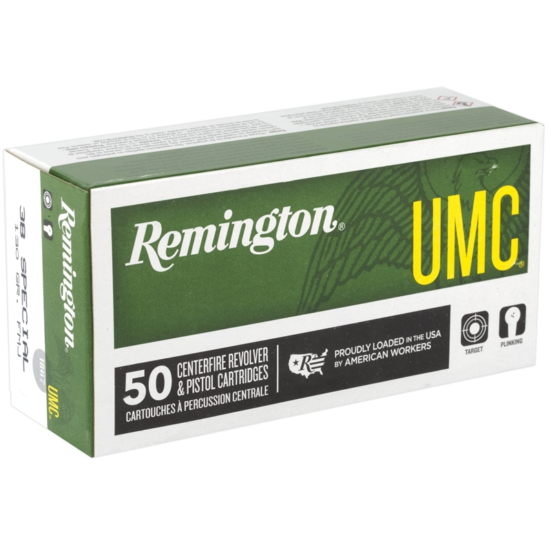 Remington UMC 38 Special 130 Grain Full Metal Jacket