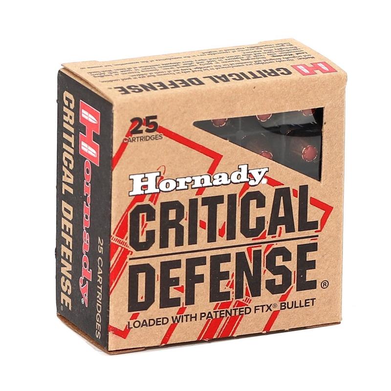 Hornady Critical Defense 380 ACP AUTO Ammo 90 Grain FTX